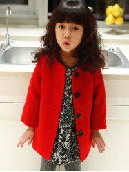 Single-Breasted Woolen Coat -