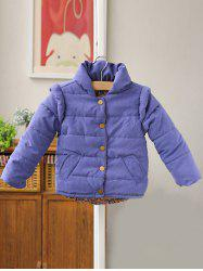 Stand Collar Padded Jacket -