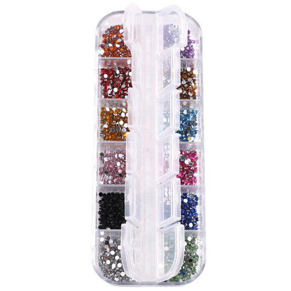 12 Colours Decoration Nail Art RhinestonesBEAUTY<br><br>Color: COLORMIX; Weight: 0.100kg; Package Content: 1 x Rhinestones (Box);