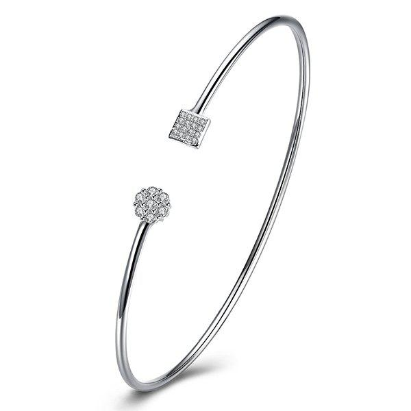 Geometric Cuff BraceletJEWELRY<br><br>Color: SILVER; Item Type: Cuff Bracelet; Gender: For Women; Chain Type: Others; Metal Type: Silver Plated; Style: Trendy; Shape/Pattern: Geometric; Weight: 0.020kg; Package Contents: 1 x Bracelet;