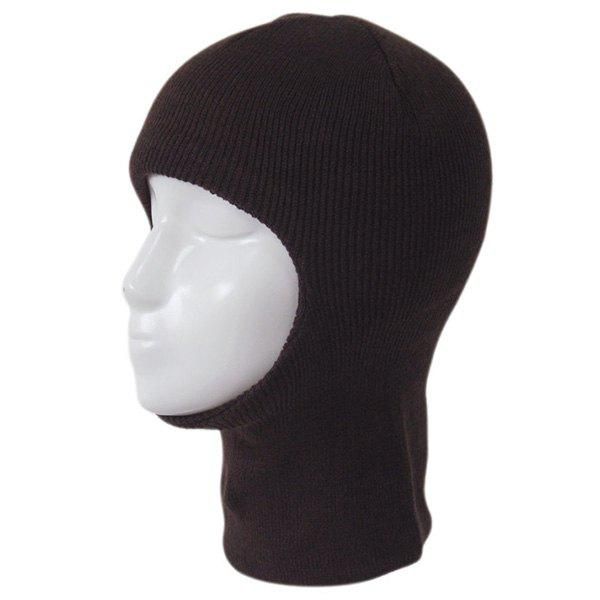 Outdoor Knit Face Mask Neck Warmer Ski CapACCESSORIES<br><br>Color: COFFEE; Hat Type: Skullies Beanie; Group: Adult; Gender: For Men; Style: Fashion; Pattern Type: Solid; Material: Polyester; Circumference (CM): 56-60; Weight: 0.320kg; Package Contents: 1 x Cap;