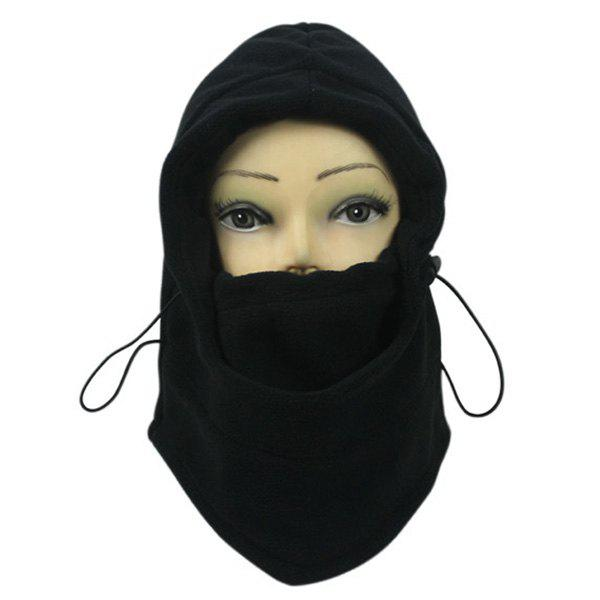 Wind Winter Stopper Face Mask Neck Warmer Cycling CapACCESSORIES<br><br>Color: BLACK; Hat Type: Skullies Beanie; Group: Adult; Gender: For Men; Style: Fashion; Pattern Type: Solid; Material: Polyester; Circumference (CM): 55-60; Weight: 0.370kg; Package Contents: 1 x Cap;