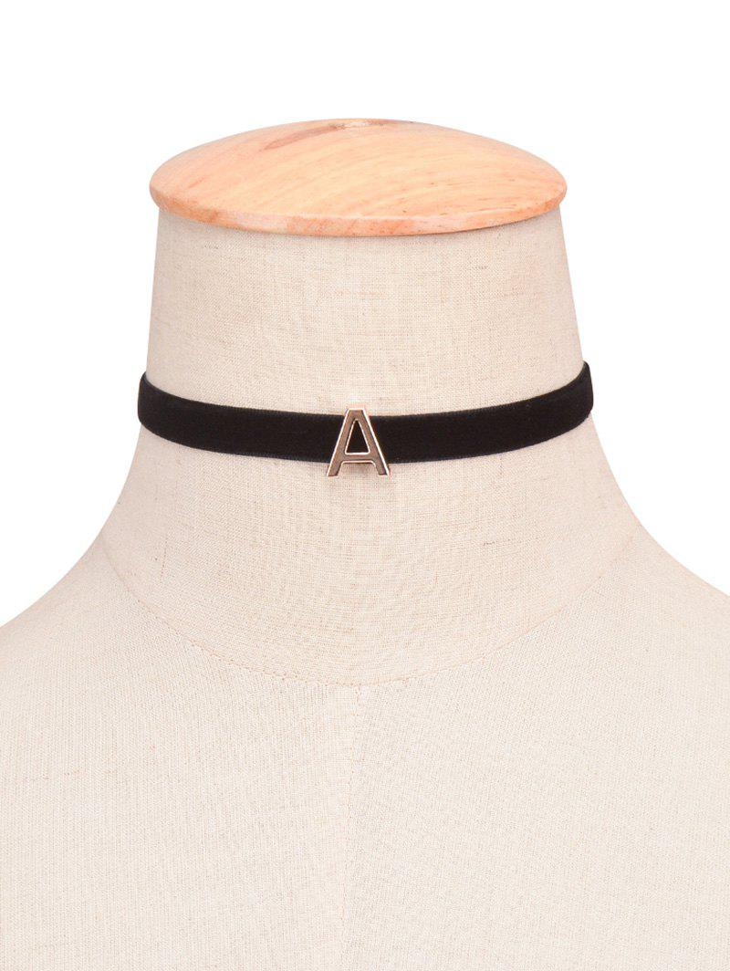 Sale Letter Velvet Choker Necklace