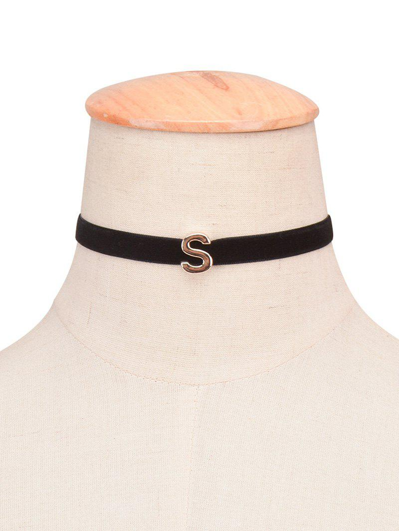 Unique Letter Velvet Choker Necklace