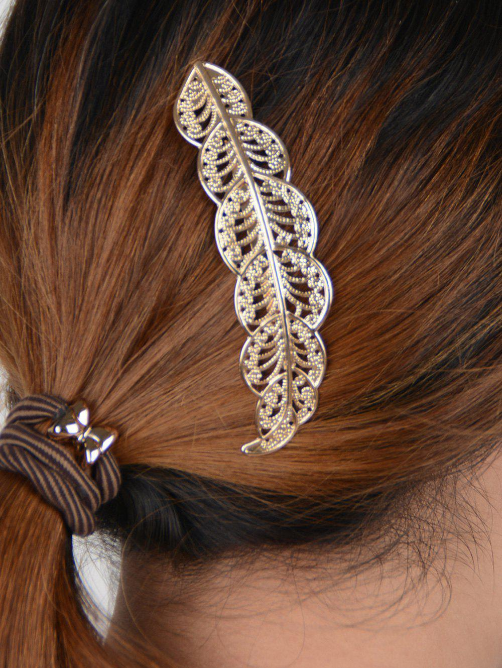 Hollow Out Leaf  HairpinACCESSORIES<br><br>Color: GOLDEN; Headwear Type: Hairpins; Group: Adult; Gender: For Women; Style: Fashion; Pattern Type: Plant; Weight: 0.032kg; Package Contents: 1 x Hairpin;