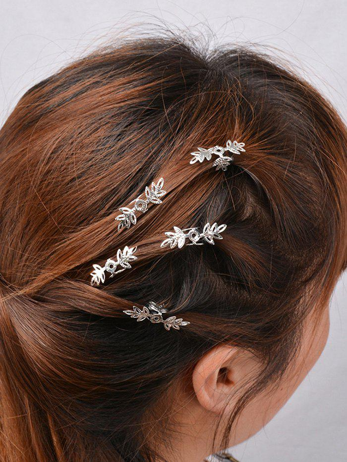 5PCS Floral Hair Accessory SetACCESSORIES<br><br>Color: SILVER; Headwear Type: Hairpins; Group: Adult; Gender: For Women; Style: Fashion; Pattern Type: Floral; Weight: 0.023kg; Package Contents: 1 x Hairpins (Set);