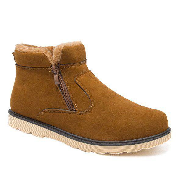 Store Suede Double Zips Ankle Boots