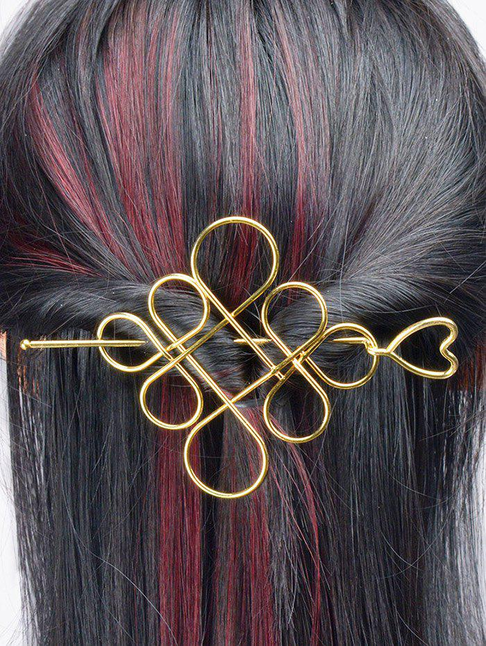 Hollow Out Chinese Knot HairpinACCESSORIES<br><br>Color: GOLDEN; Headwear Type: Hairpins; Group: Adult; Gender: For Women; Style: Vintage; Pattern Type: Others; Weight: 0.023kg; Package Contents: 1 x Hairpin;