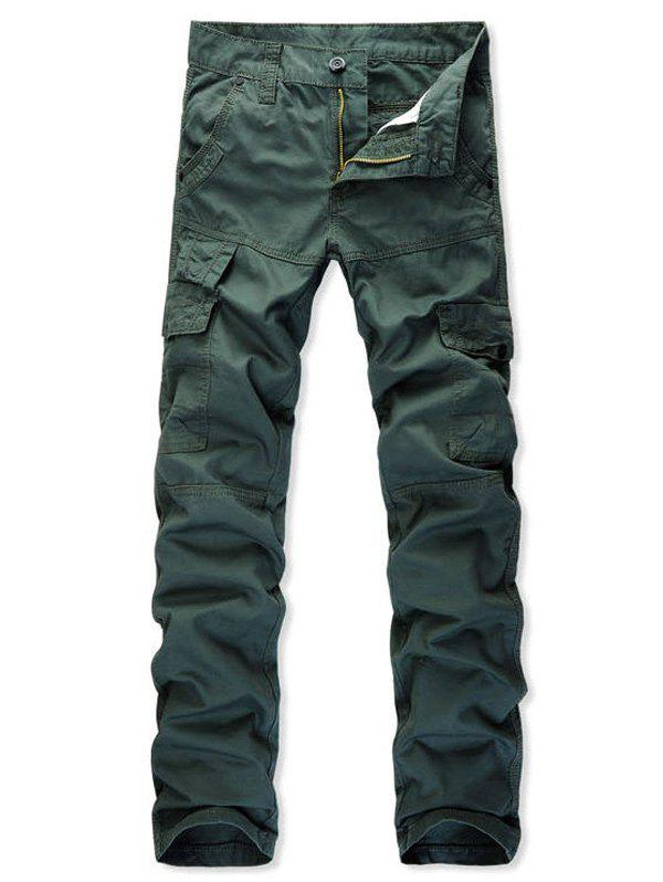 Best Multi Pockets Zip Fly Straight Cargo Pants