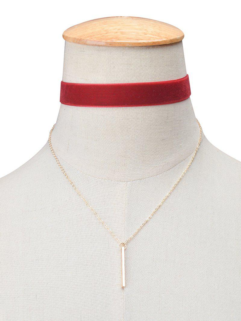 Shop Vintage Velvet Bar Layered Choker Necklace