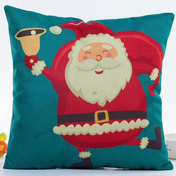 Cartoon Santa Claus Pillow CaseHOME<br><br>Color: COLORMIX; Material: Polyester / Cotton; Pattern: Printed; Style: Modern/Contemporary; Shape: Square; Size(CM): 45*45; Weight: 0.110kg; Package Contents: 1 x Pillow Case;