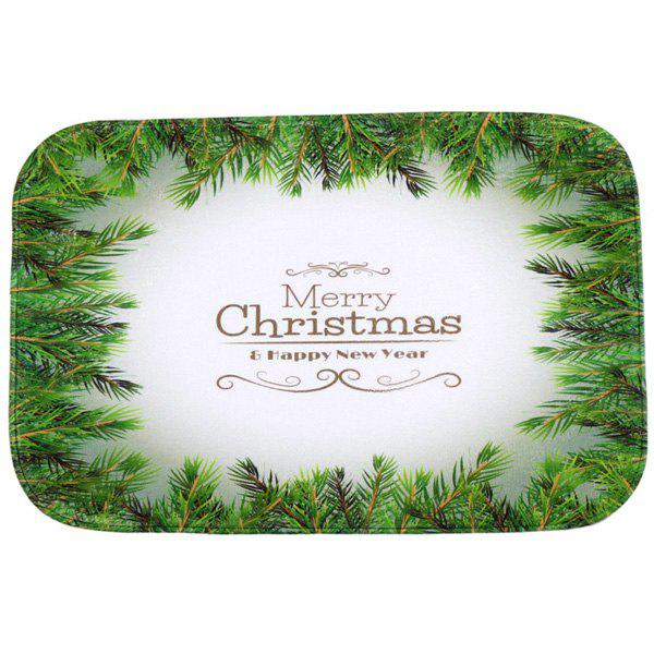 Christmas Tree Antiskid Water Absorb Carpet For BathroomHOME<br><br>Color: GREEN; Type: Carpet; Material: Fleece Fabric; Style: Contemporary; Shapes: Rectangle; Size(CM): 40*60; Weight: 0.480kg; Package Contents: 1 x Carpet;