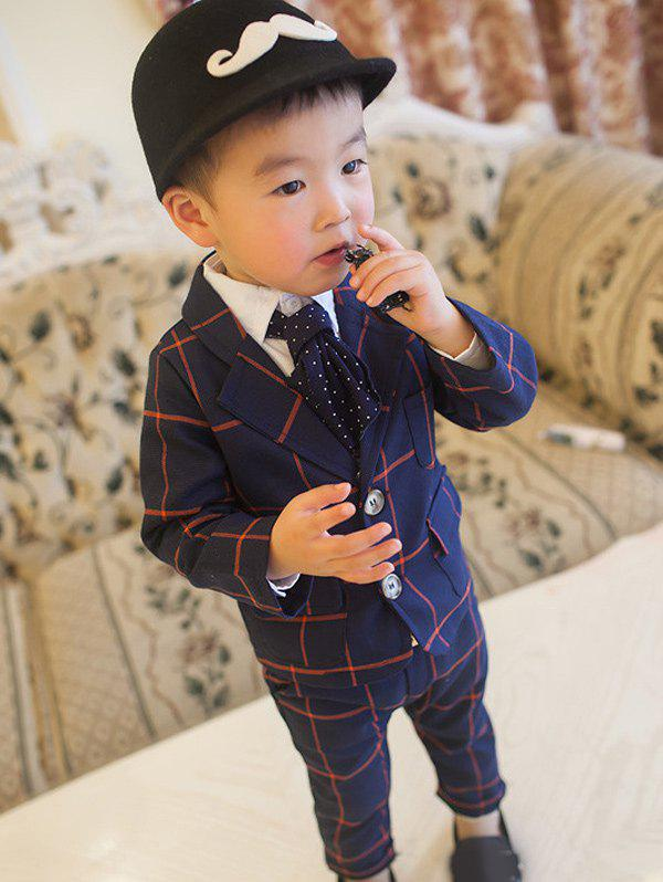 Hot Two Button Lapel Plaid Blazer Suits
