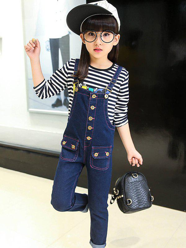 Best Metal Button Denim Overalls