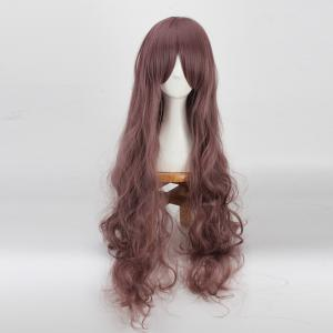 Long Side Bang Bouffant Wavy Cosplay Synthetic Wig -