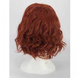Short Towheaded Wavy Cosplay Synthetic Wig -