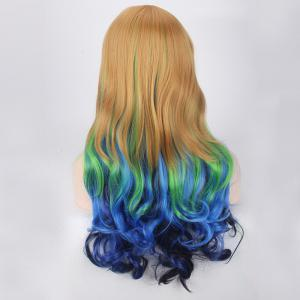 Colored Long Side Bang Wavy Cosplay Lolita Synthetic Wig -