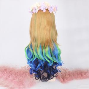 Perruque synthétique longue cosplay Lolita -