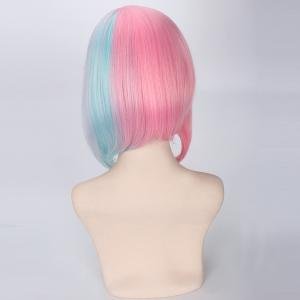 Rainbow Short Side Bang Straight Cosplay Lolita Synthetic Wig -