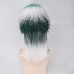 Medium Side Bang Fluffy Mixedcolor Straight Cosplay Synthetic Wig -