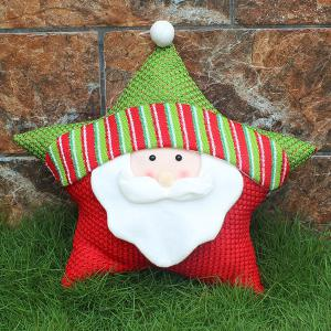 Christmas Party Decoration Santa Claus Star Pillow