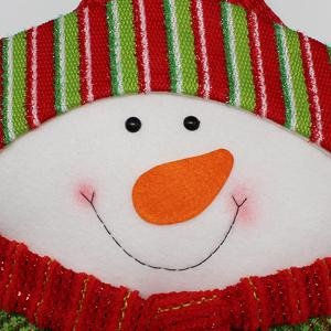 Christmas Party Decoration Supplies Snowman Star Pillow - WHITE