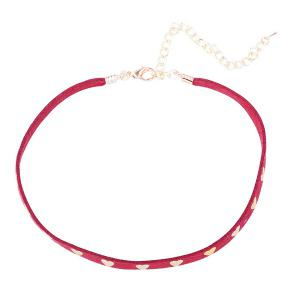 Heart Rivet Velvet Choker Necklace -