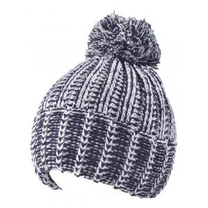 Knitted Colormix Ball Top Beanie