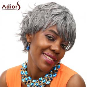 Adiors Short Layered Fluffy Side Bang Straight Colormix Synthetic Wig -