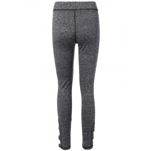 Stretchy Side Cross Cut Out Leggings -