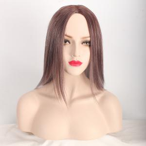 Long Middle Part Straight Ombre Color Synthetic Wig -