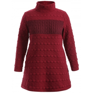 Ribbed Knit Pocket Sweater Dress