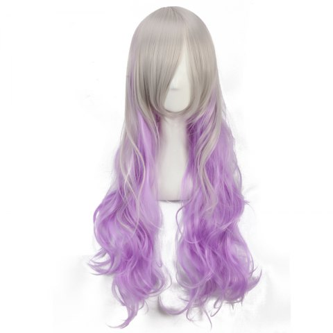 Shops Ombre Color Long Side Bang Wavy Fairy Cosplay Synthetic Wig - COLORMIX  Mobile