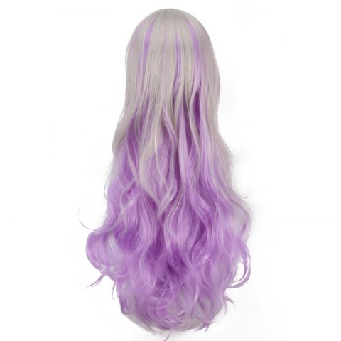 Outfit Ombre Color Long Side Bang Wavy Fairy Cosplay Synthetic Wig - COLORMIX  Mobile