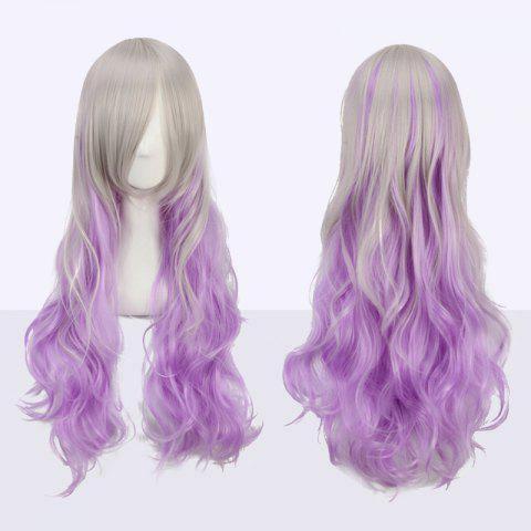 Best Ombre Color Long Side Bang Wavy Fairy Cosplay Synthetic Wig - COLORMIX  Mobile
