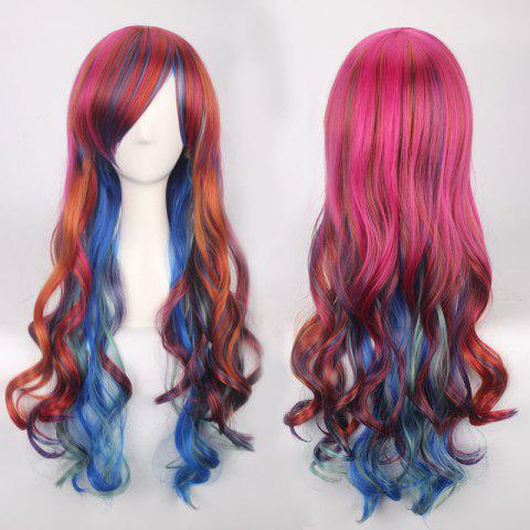 Shops Colorful Long Side Bang Wavy Cosplay Synthetic Wig