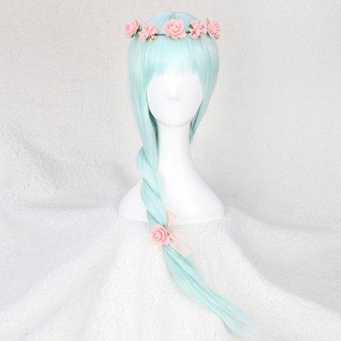 Buy Long Full Bang Slightly Curled Fairy Cosplay Synthetic Wig - WINDSOR BLUE  Mobile