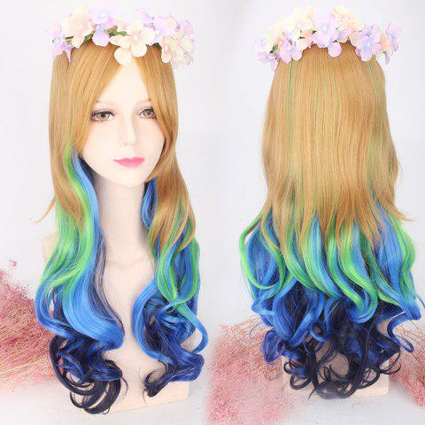 Outfit Long Side Bang Wavy Colored Cosplay Lolita Synthetic Wig