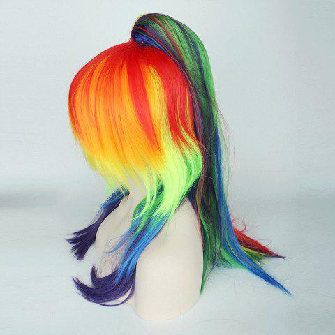 Shops Rainbow Long Tail Adduction with Ponytail My Little Pony Cosplay Synthetic Wig - COLORFUL  Mobile