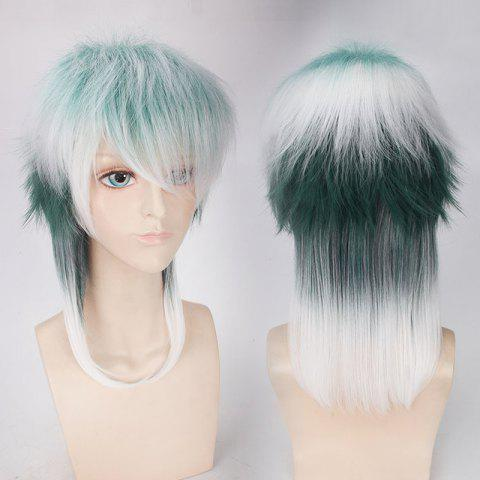 Fashion Medium Side Bang Fluffy Mixedcolor Straight Cosplay Synthetic Wig