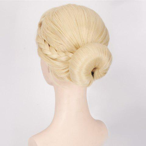 Unique Bud Braids Princess Cosplay Synthetic Wig - BEIGE  Mobile
