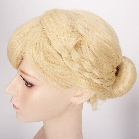 Perruque synthétique princesse cosplay RAL Beige