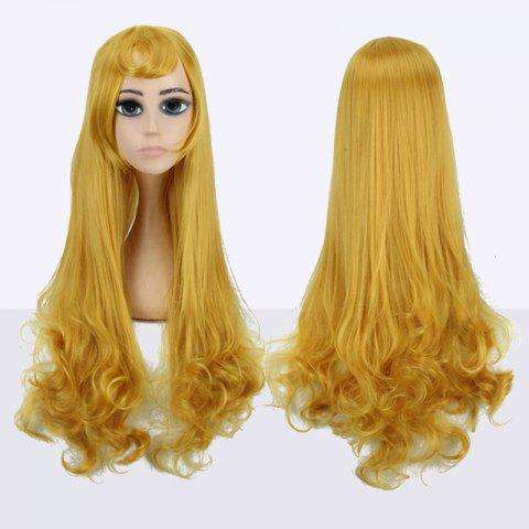 Trendy Long Side Bang Tail Curly Fairy Cosplay Synthetic Wig