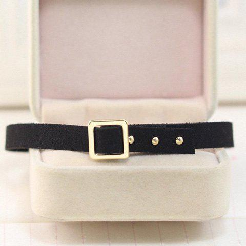 Latest Concise Faux Leather Alloy Choker -   Mobile
