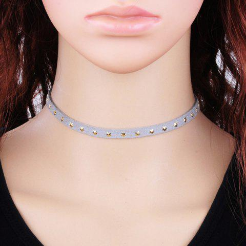 Buy Star Velvet Choker Necklace LIGHT GRAY