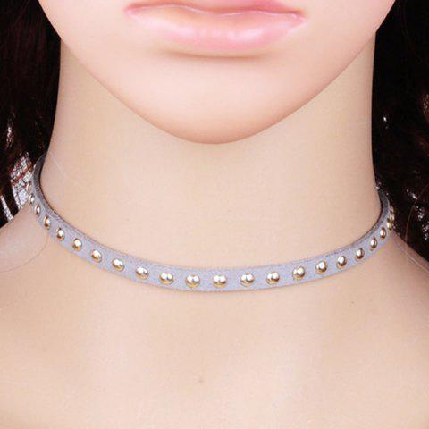 Store Rivet Velvet Choker Necklace