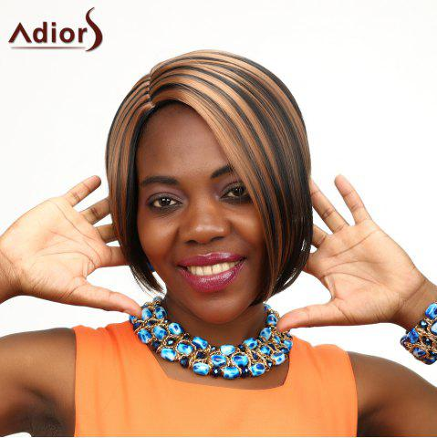 Fancy Adiors Highlight Short Side Parting Straight Synthetic Wig COLORMIX