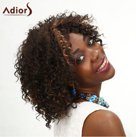 Buy Adiors Medium Middle Parting Kinky Curly Highlight Synthetic Wig COLORMIX