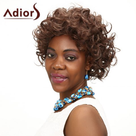 Fashion Adiors Short Curly Shaggy High Temperature Fiber Wig COLORMIX