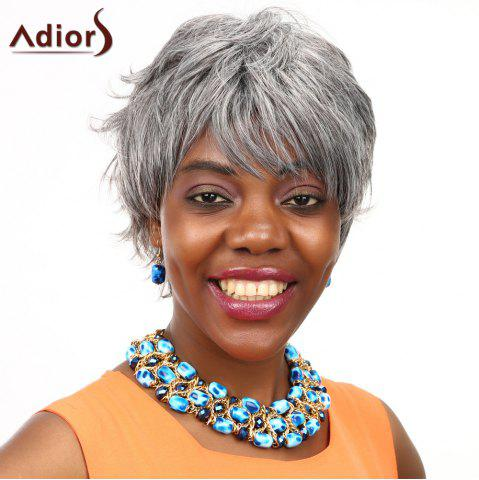 Affordable Adiors Short Layered Fluffy Side Bang Straight Colormix Synthetic Wig